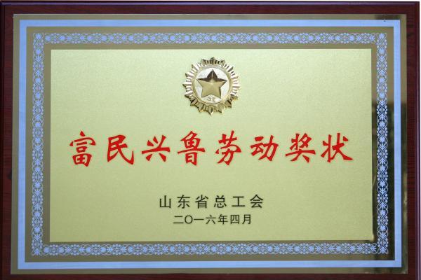 2016年富民兴鲁劳动奖状