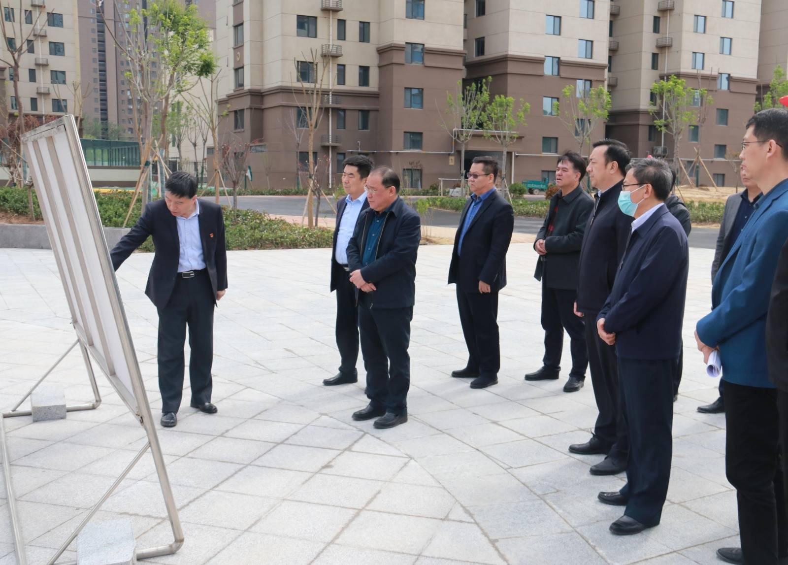 市委常委、常务副市长刘长民一行到前魏安置区项目现场调研督导